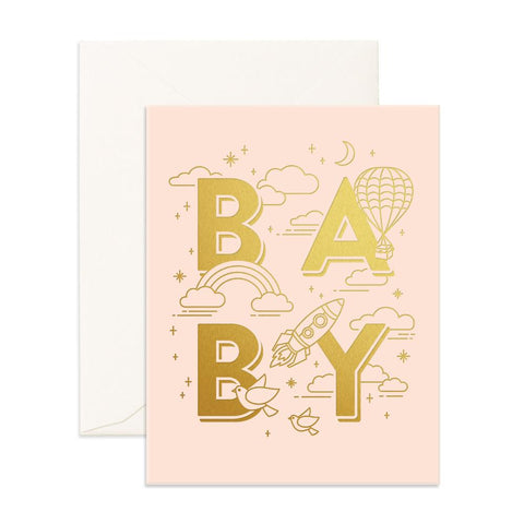 """ Baby Universe Pink "" Card"