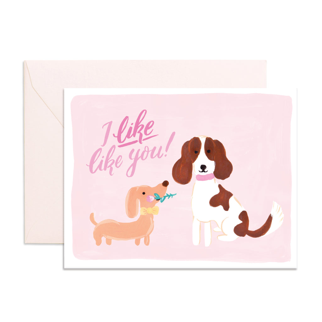 """ Valentines's Dogs "" Card Greeting Cards - Thorn and Burrow"