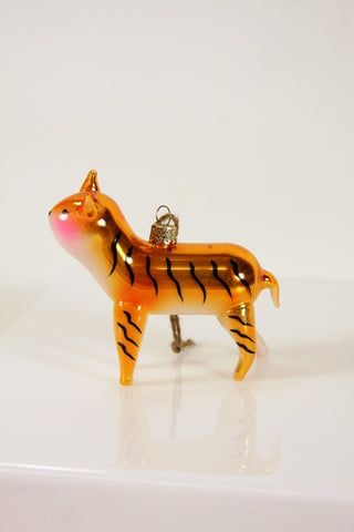 GLINTING TIGER ORNAMENT