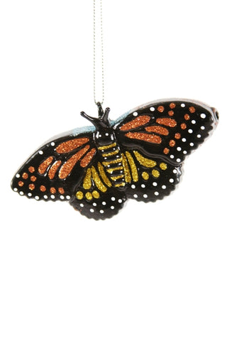 GLITTERY BUTTERFLY ORNAMENT