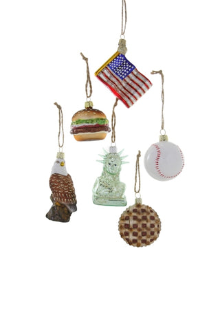 TINY AMERICA ORNAMENTS SET