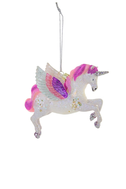 ENCHANTED UNICORN PEGASUS PINK ORNAMENT