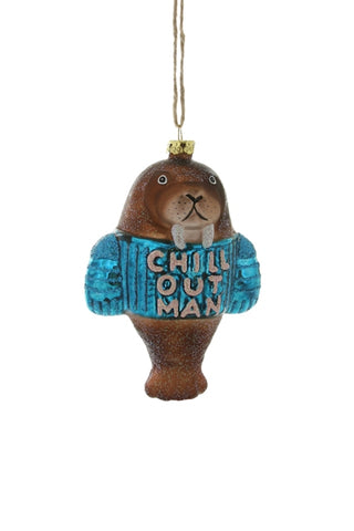 CHILL OUT WALRUS ORNAMENT