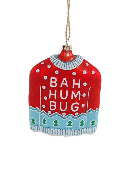 HUMBUG SWEATER RED ORNAMENT