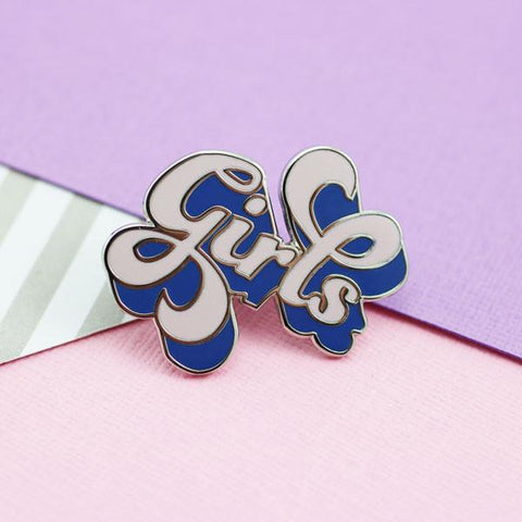 Girls Enamel Pin