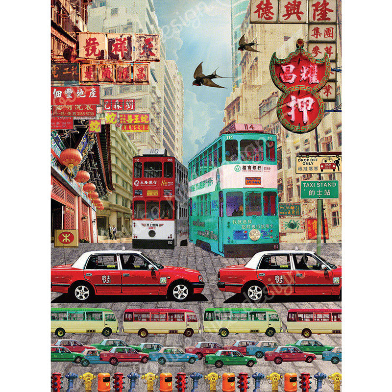Hong Kong Taxi Artwork