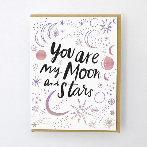 'Moon and Stars' Card