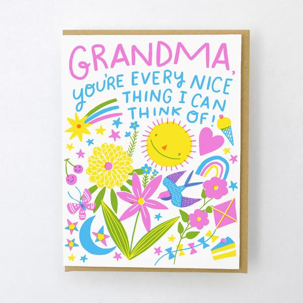 'Every nice thing Grandma' Card