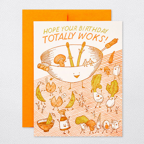 'Wokkin' Birthday' Card