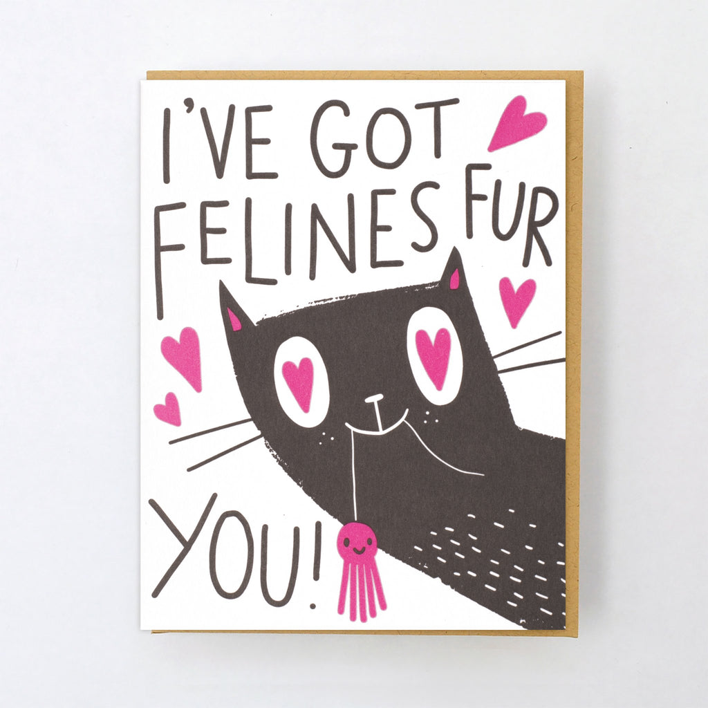 'Felines For You' Card