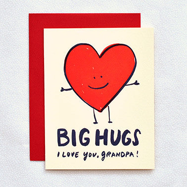 'Hugs- Grandpa' Card Greeting Cards - Thorn and Burrow