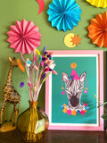 Magical Party Zebra Art Print