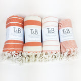 Orange Bamboo & Cotton Turkish Towel
