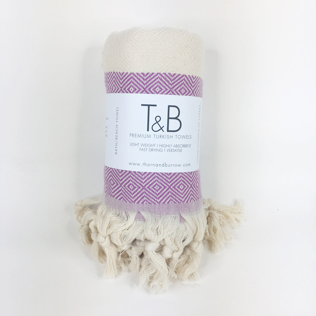 Hot Purple Bamboo & Cotton Turkish Towel