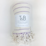 Purple Bamboo & Cotton Turkish Towel