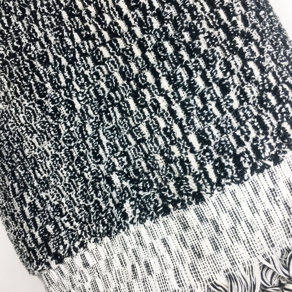 Black & White Bath Turkish Towel