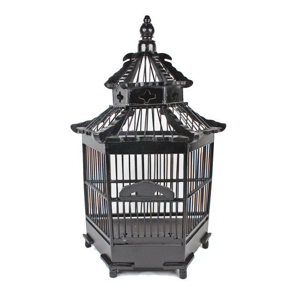 Black Bird Cage Decor - Thorn and Burrow