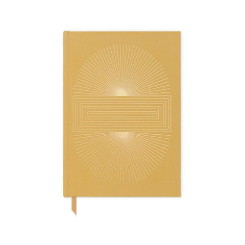 Ochre Radiant Sun Block - Bookcloth Cover Book Bound