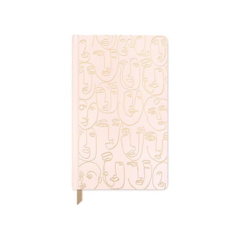 Ballet Slippers Pink Faces Journal  - Bookcloth Cover Book Bound
