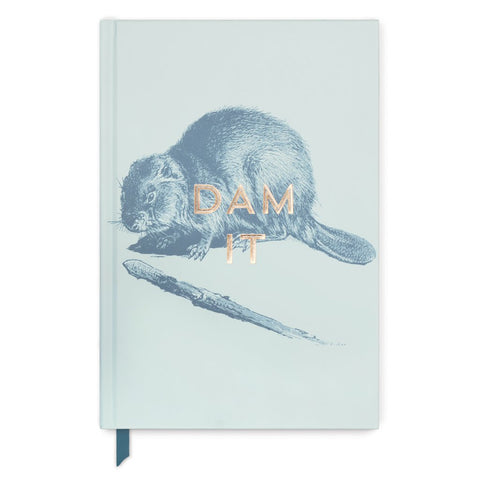 Vintage Sass Hard Cover Journal | Dam It Beaver