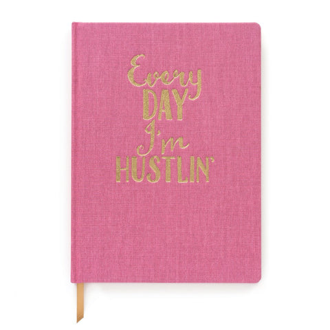 Cloth Cover Journal | Everyday I'm Hustlin'