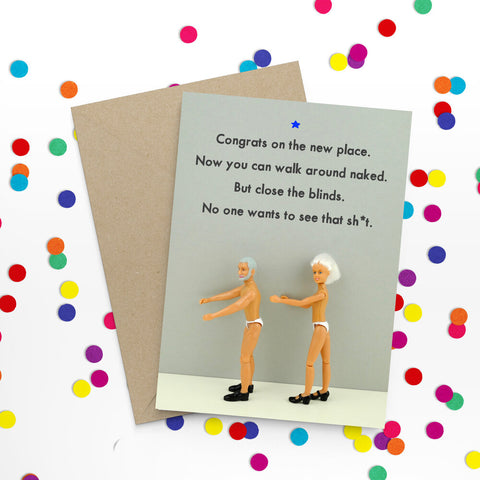 """ New Place "" Greeting Card"