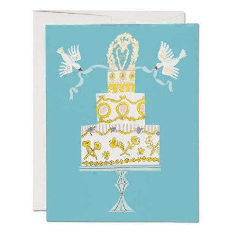 """Love Cake Wedding"" Card Greeting Cards - Thorn and Burrow"