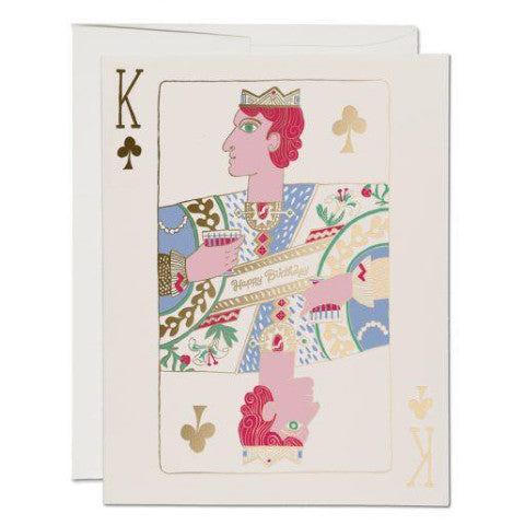 """ King of Clubs "" Card Greeting Cards - Thorn and Burrow"