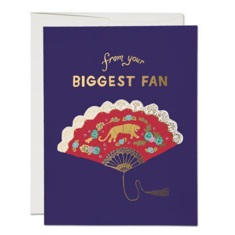 """Biggest Fan"" Card Greeting Cards - Thorn and Burrow"