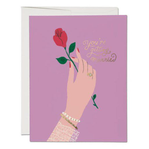 """Engagement Rose"" Card Greeting Cards - Thorn and Burrow"