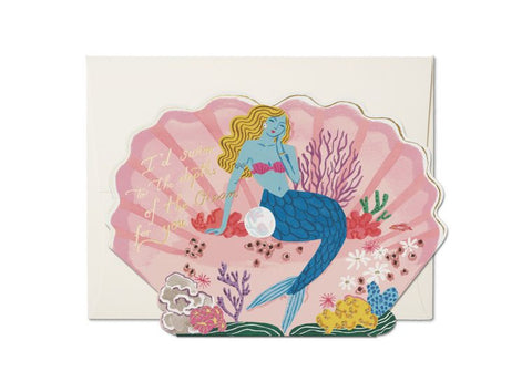 """  Blue Mermaid  "" Card Greeting Cards - Thorn and Burrow"