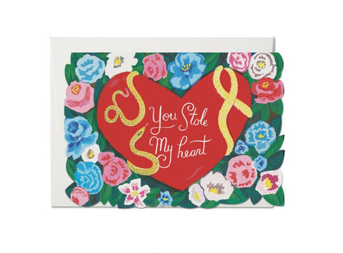 """  Stole My Heart  "" Card Greeting Cards - Thorn and Burrow"