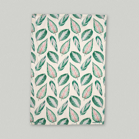 Variegated Leaves Tea Towel