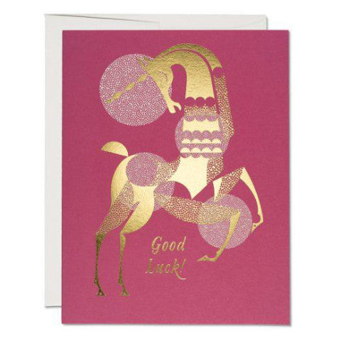 """Good Luck Unicorn"" Card Greeting Cards - Thorn and Burrow"