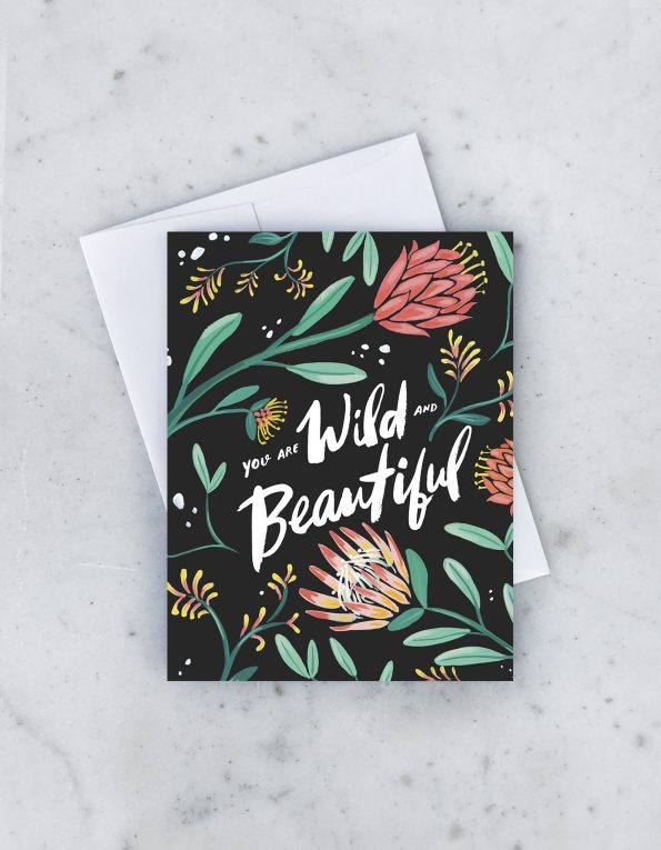 """ Wild Beautiful "" Card Greeting Cards - Thorn and Burrow"
