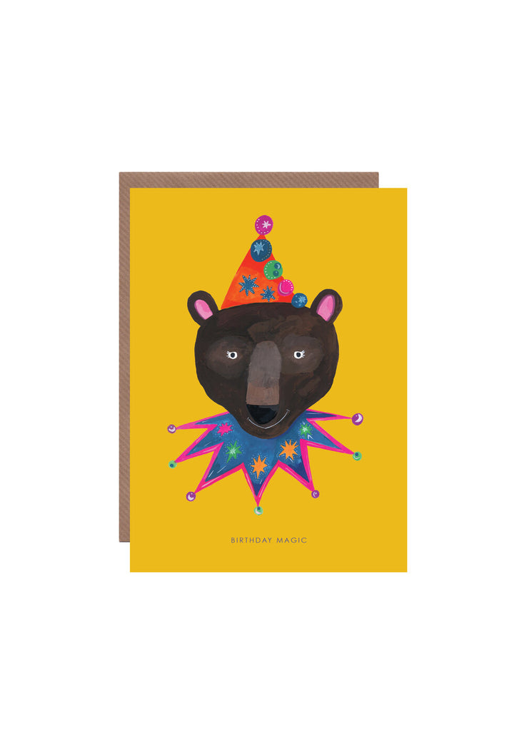 """ Magic Party Bear "" Card"