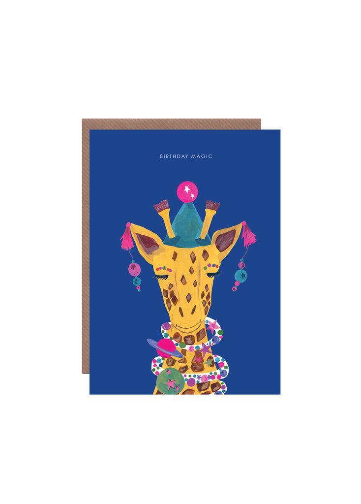 """ Magic Party Giraffe "" Card"