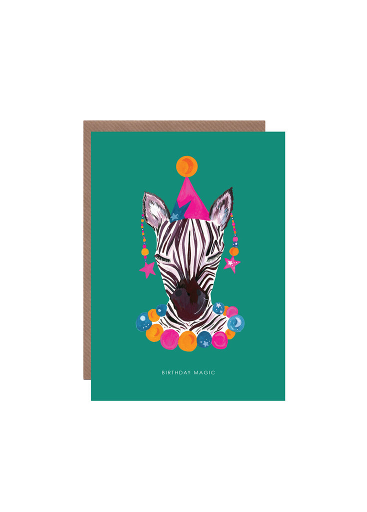 """ Magic Party Zebra "" Card"