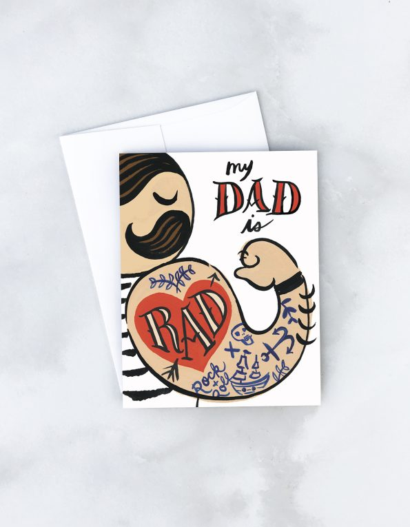 """ Rad Dad "" Card Greeting Cards - Thorn and Burrow"