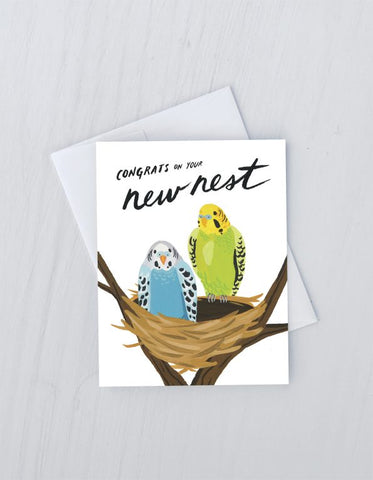 """ New Nest "" Card Greeting Cards - Thorn and Burrow"