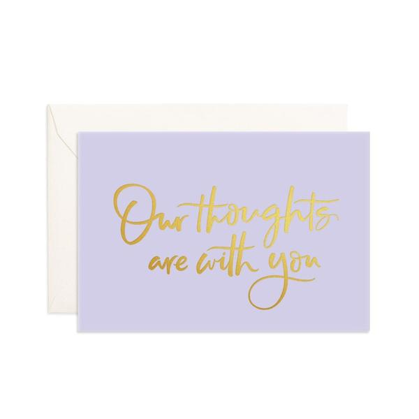 """ Our Thoughts "" Mini Card"