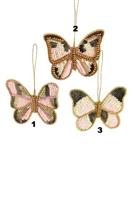 GLINTING BUTTERFLY ORNAMENT