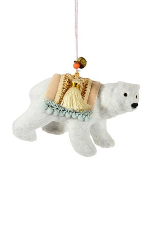 SOFT ARCTIC POLAR BEAR ORNAMENT
