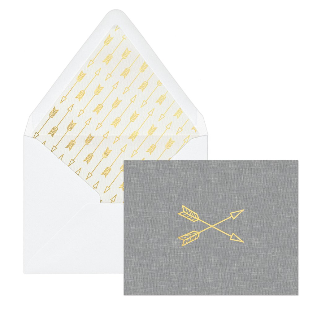 Grey Arrows | Envelope & Note Cards