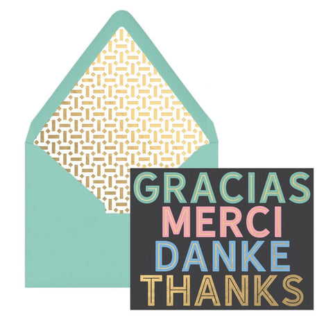 """Gracias, Merci, Danke, Thanks"" 