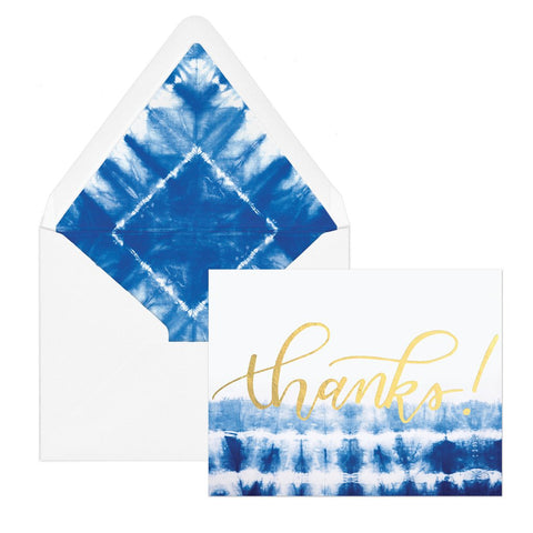 "Indigo Shibori ""Thanks"" 