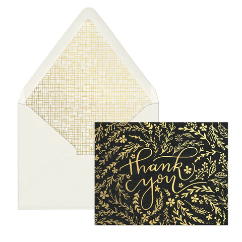"Black Floral ""Thank You"" 