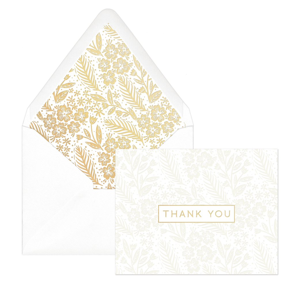 "Pearl Floral ""Thank You"" 