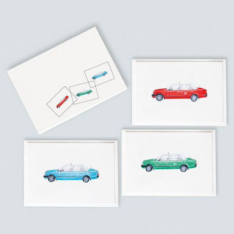 Taxis Card Pack (6 Notecards)