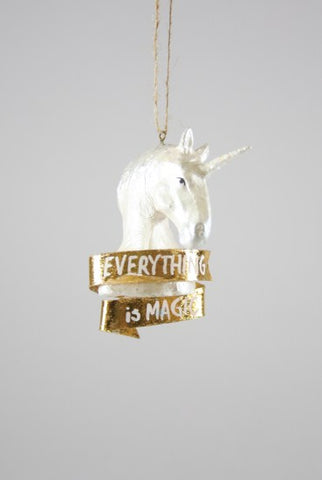 EVERYTHING IS MAGICAL UNICORN ORNAMENT